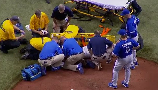 VIDEO: Pitcher drilled in head with line-drive