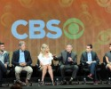 "From left, actor James Wolk, executive producer/creator David E. Kelley, actors Sarah Michelle Gellar, Robin Williams, executive producer/director Jason Winer and actor Amanda Setton participate in the ""The Crazy Ones"" panel at the 2013 CBS Summer TCA Press Tour at the Beverly Hilton Hotel on Monday, July 29, 2013 in Beverly Hills, Calif."