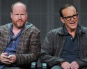 Producer Joss Whedon (L) and actor Clark Gregg attend the Disney/ABC Television Group's 2013 Summer TCA panel at the Beverly Hilton Hotel on Sunday, August 4, 2013 in Beverly Hills, Calif.
