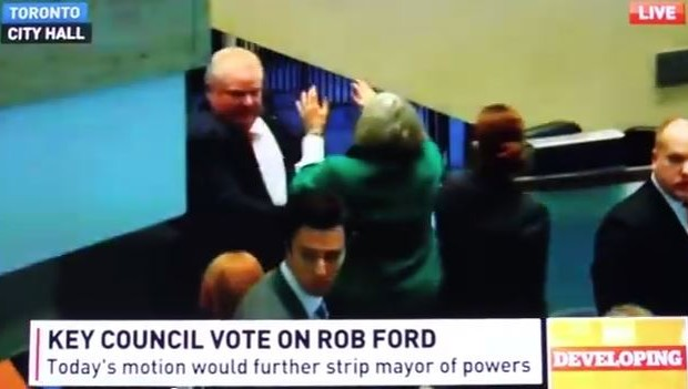 Rob Ford Knocks Over City Councilwoman
