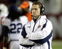 Auburn coach Gene Chizik watches from the sidelines during the second half of a 49-0 loss to Alabama in a NCAA college football game at Bryant-Denny Stadium in Tuscaloosa, Ala., Saturday, Nov. 24, 2012. Chizik was fired Sunday after a 3-8 season by Athletic Director Jay Jacobs.