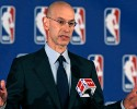 NBA Commissioner Adam Silver addresses a news conference in New York, Tuesday, April 29, 2014. Silver announced that Los Angeles Clippers owner Donald Sterling has been banned for life by the league in response to racist comments the league says he made in a recorded conversation.