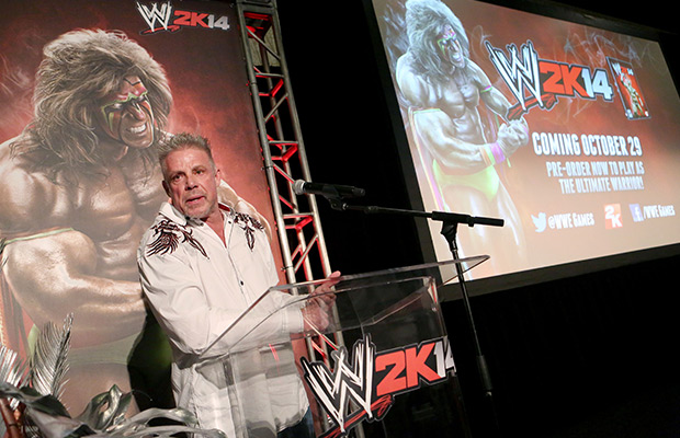 IMAGE DISTRIBUTED FOR 2K - Warrior talks about his career as the Ultimate Warrior, a playable WWE Legend, available exclusively by pre-ordering WWE 2K14, on Sunday, Aug. 18, 2013 in Los Angeles.