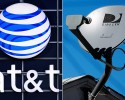 This combo made from file photos shows the AT&T logo on the side of a corporate office in Springfield, Ill., left, and a DirecTV satellite dish atop a home in Los Angeles. Priming itself for the age of Internet-delivered video, AT&T Inc. on Sunday, May 18, 2014 said it would buy DirecTV for $48.5 billion in cash and stock, or $95 per share.