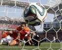 10ThingstoSeeSports - Netherlands' Memphis Depay, left, looks to the ball after scoring his side's second goal during the group B World Cup soccer match between the Netherlands and Chile at the Itaquerao Stadium in Sao Paulo, Brazil, Monday, June 23, 2014.