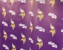 The backdrop for a Minnesota Vikings news conference is shown in Eden Prairie, Minn., Wednesday, Sept. 17, 2014.