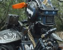 "This image released by Columbia Pictures shows the character Chappie in a scene from ""Chappie."""