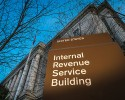FILE -This April 13, 2014 file photo shows the headquarters of the Internal Revenue Service (IRS) in Washington. Tuesday, April 15, is the federal tax filing deadline for most Americans.